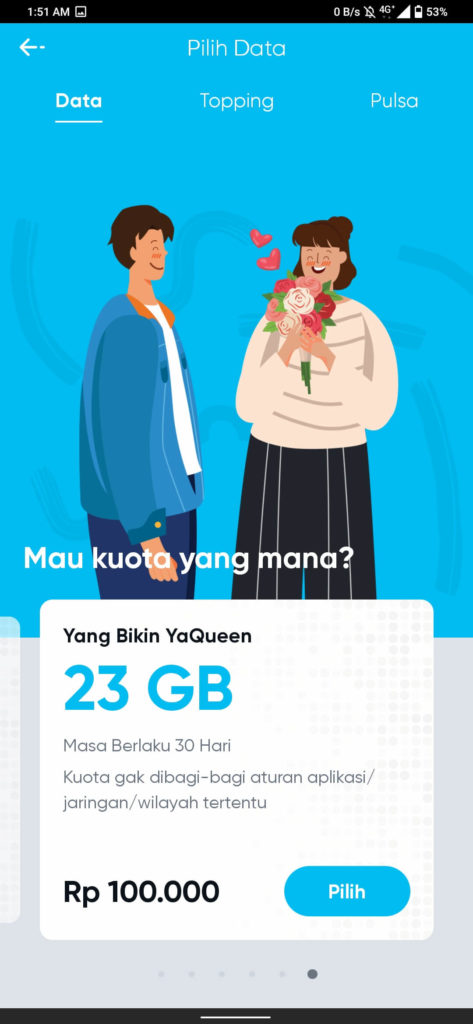 Pilihan Paket Data Internet by.U