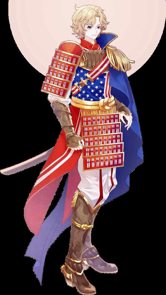 Karakter Anime Bendera Amerika