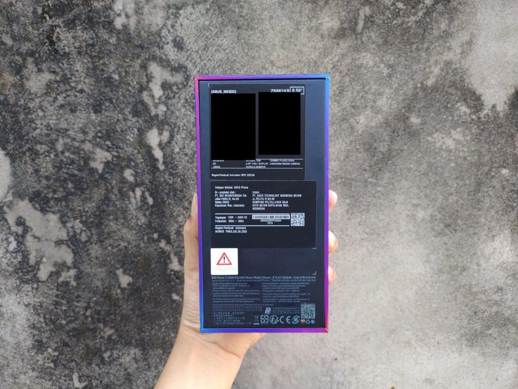 Bagian Belakang BOX ROG Phone 3