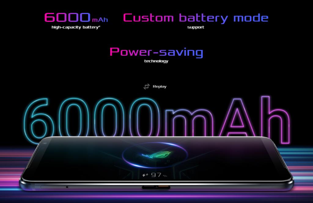 Battery 6000mAh ROG Phone 3
