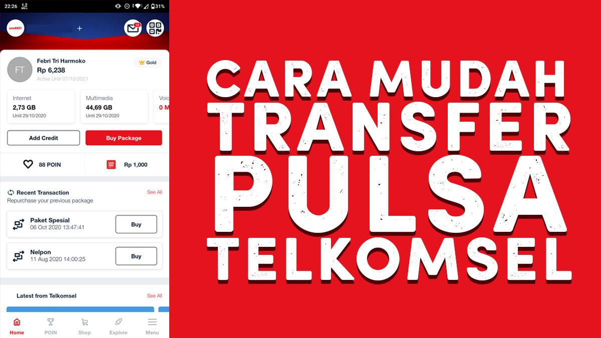 Cara Transfer Pulsa Telkomsel Sms Ussd Apps Xkomodotcom