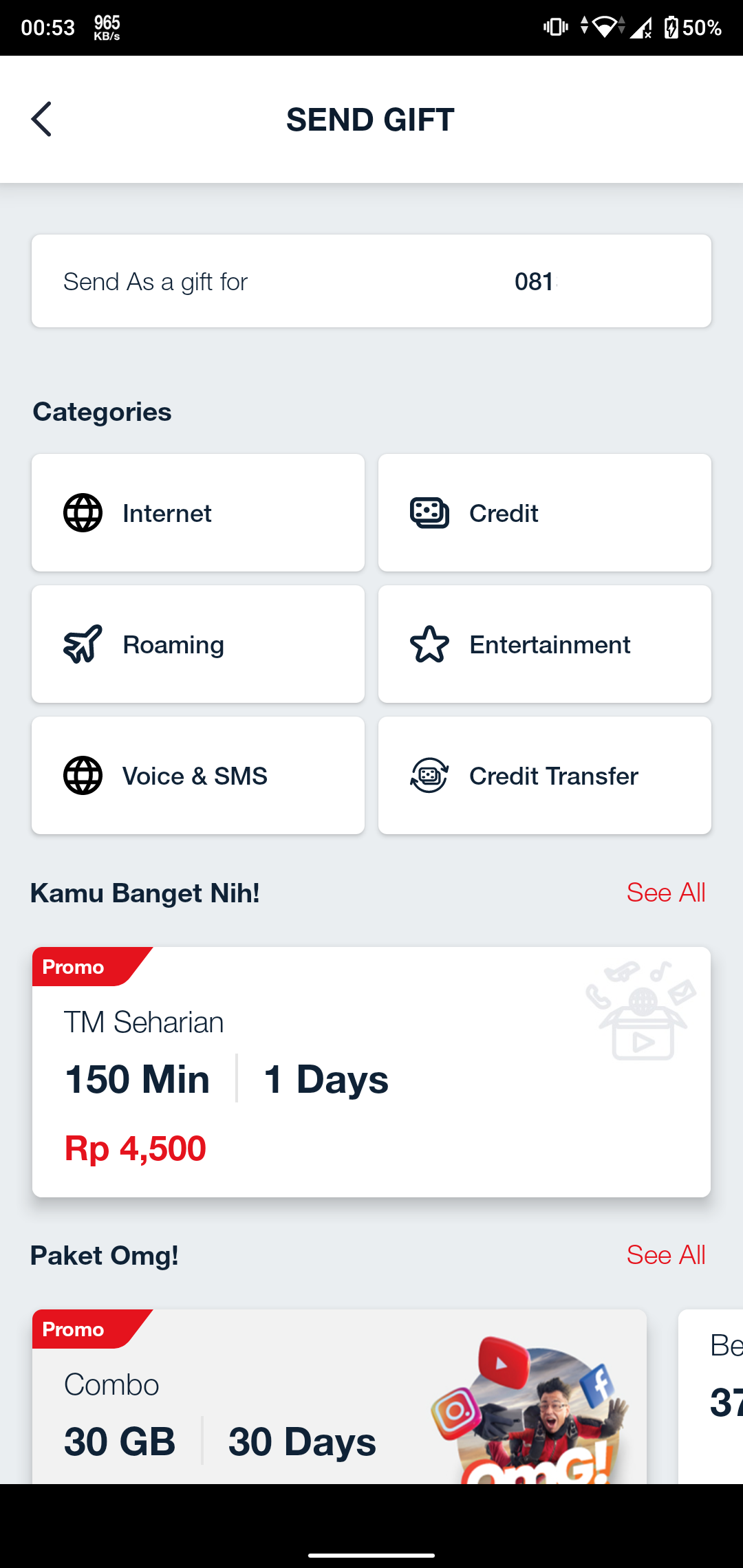 Transfer Pulsa Telkomsel di Aplikasi MyTelkomsel
