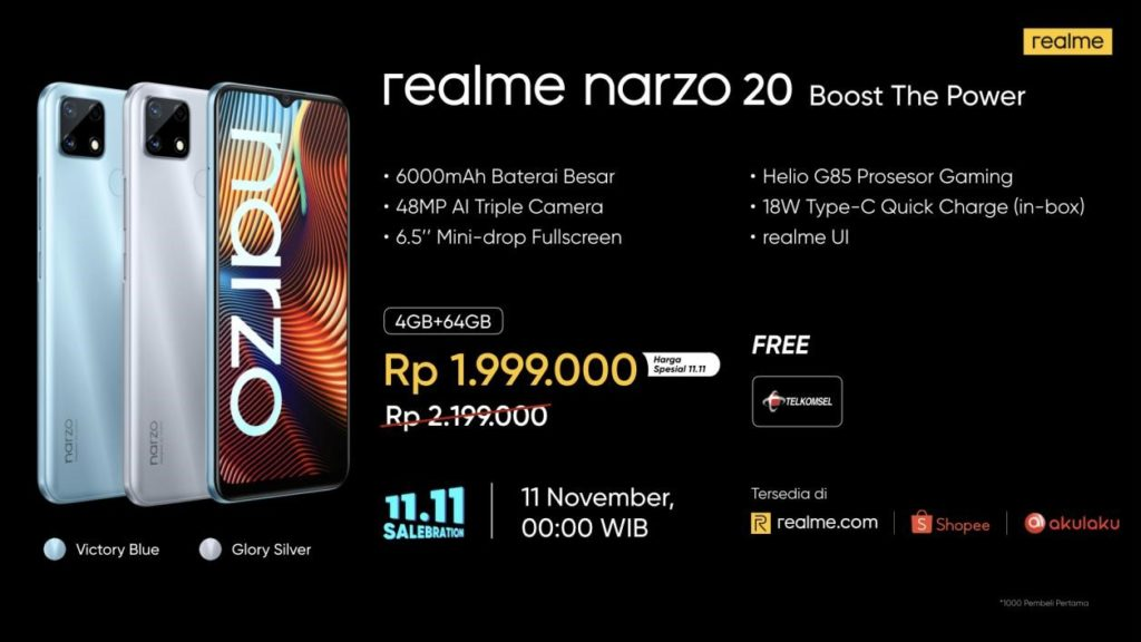 realme narzo 20 Boos The Power