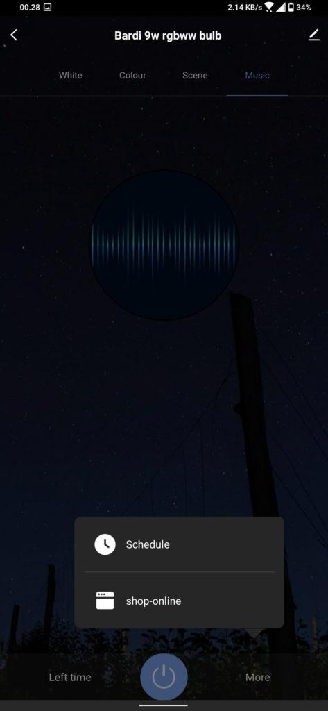 Review Bardi Smart Light Bulb 9W - RGBWW - Smart Life - Pengaturan Lanjutan