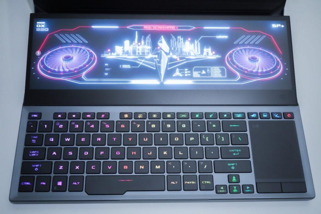ScreenPad Plus pada ROG Zephyrus Duo 15 (GX550)